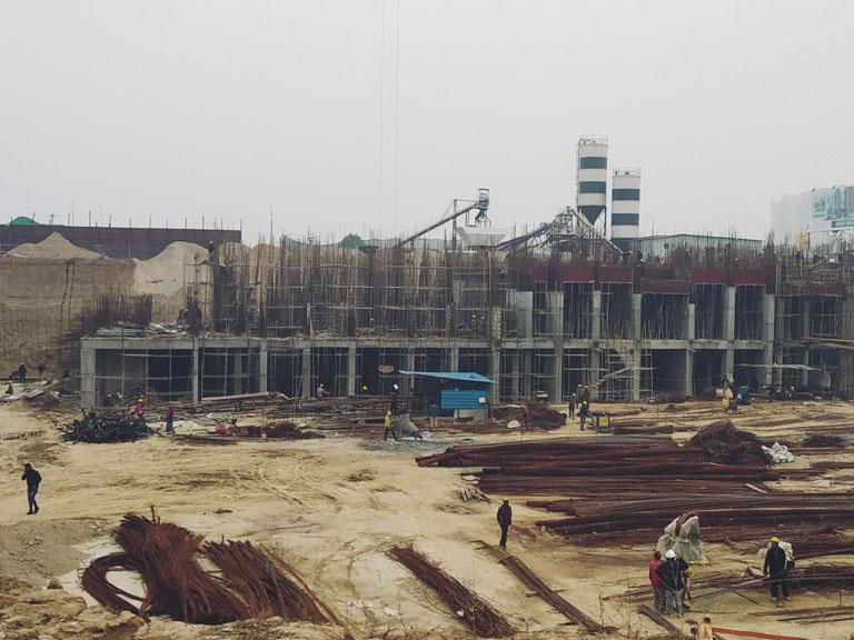 Tower C Ground Floor Upper basement steel binding in progress